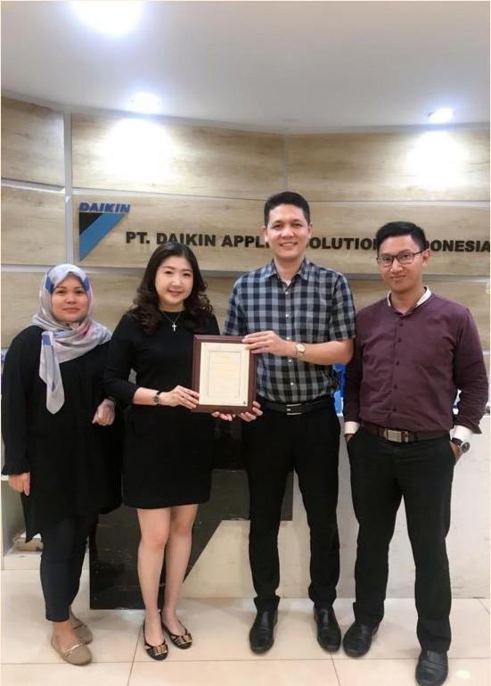 Customer Apreciation Award to Daikin 2019